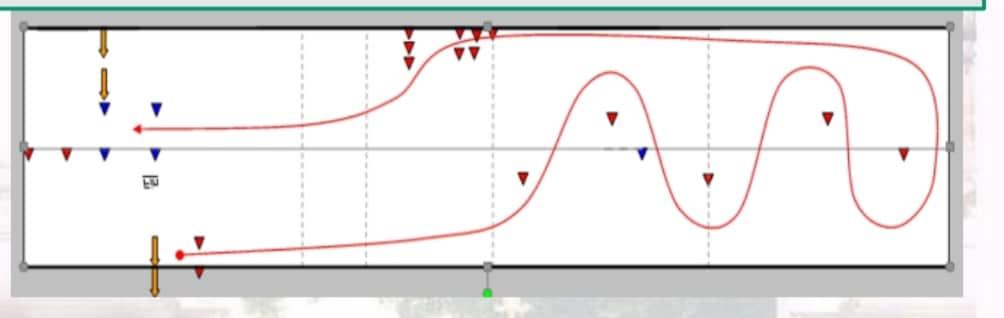 Nouveau permis moto A2 A1 2020 plateau: Le slalom / évitement